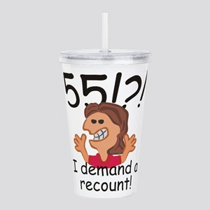 Recount 55th Birthday Red Acrylic Double-wall Tumb