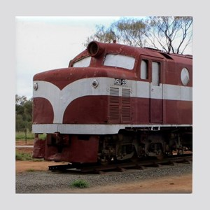Old Ghan Train, Alice Springs, Austra Tile Coaster