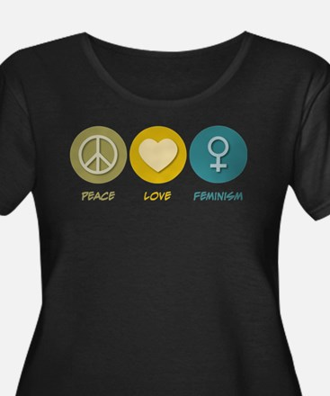 Peace Love Feminism Plus Size T-Shirt