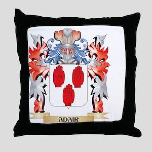 Adair Coat of Arms - Family Crest Throw Pillow