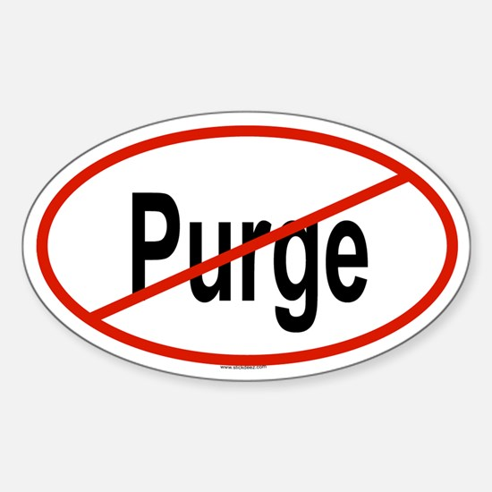 PURGE Oval Decal