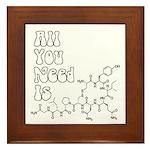 All You Need Is [oxytocin] Framed Tile