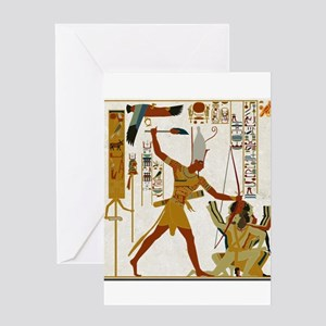Ramses The Great Smiting Greeting Cards
