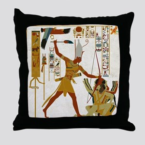Ramses the Great Smiting Throw Pillow