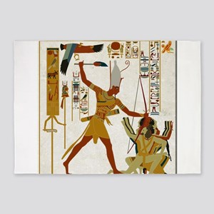 Ramses The Great Smiting 5'x7'area Rug