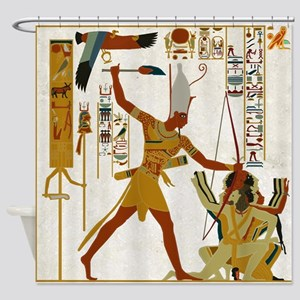 Ramses the Great Smiting Shower Curtain
