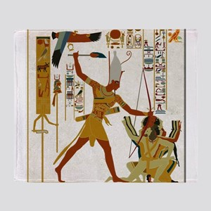 Ramses The Great Smiting Throw Blanket