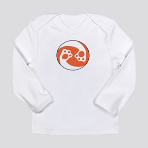 animal paws in a circle symbol Long Sleeve T-Shirt