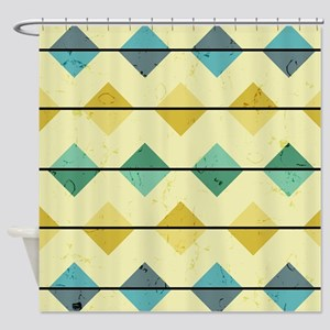 Mid Century Diamonds Shower Curtain
