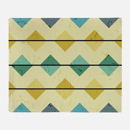 Mid Century Diamonds Throw Blanket