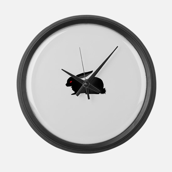 Black Rabbit Large Wall Clock