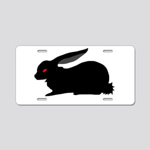 Black Rabbit Aluminum License Plate