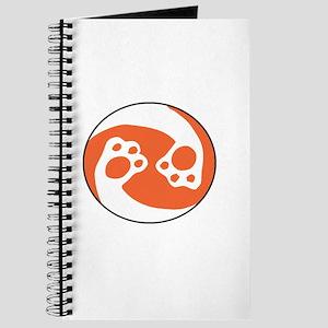 animal paws in a circle symbol - orange Journal