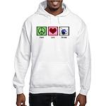 Peace Love Drums Hooded Sweatshirt