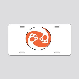 animal paws in a circle sym Aluminum License Plate