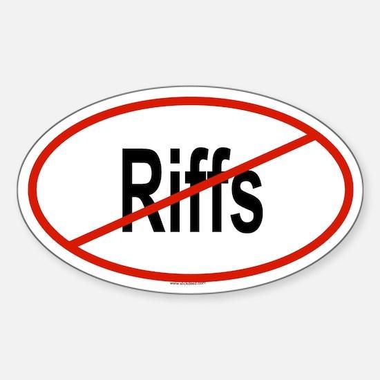 RIFFS Oval Decal