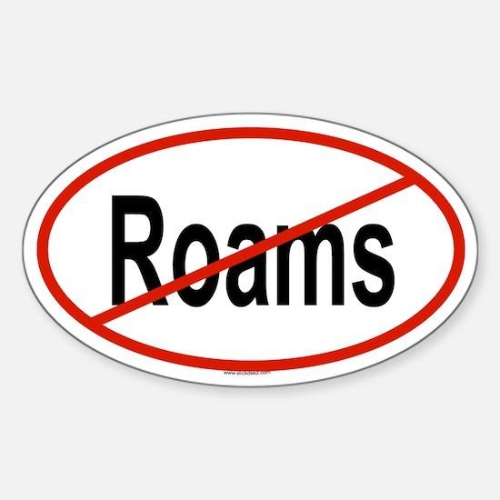 ROAMS Oval Decal