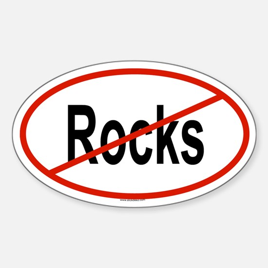 ROCKS Oval Decal