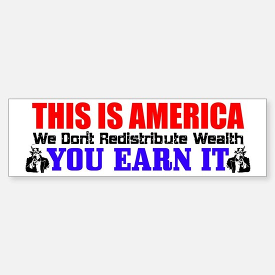 """This Is America"" Bumper Bumper Bumper Sticker"