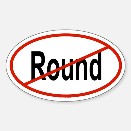 ROUND Oval Decal