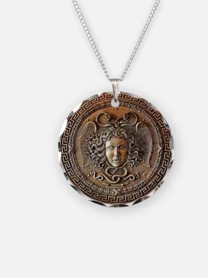 Athena Medusa Shield Necklace