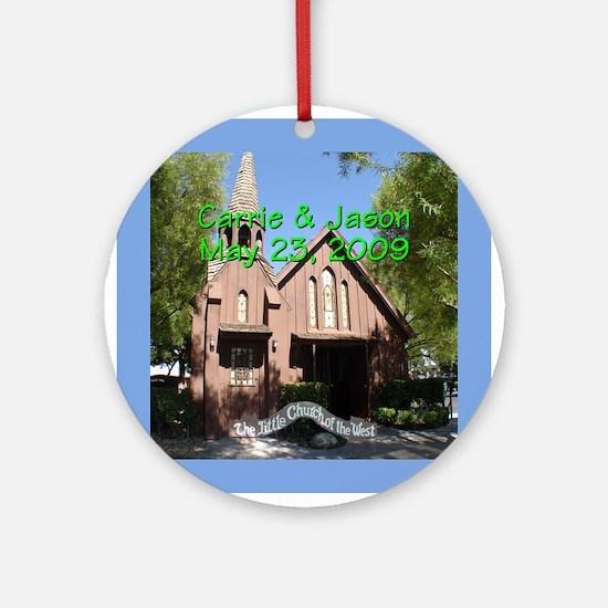 Carrie/Jason CW Las Vegas Ornament (Rnd)