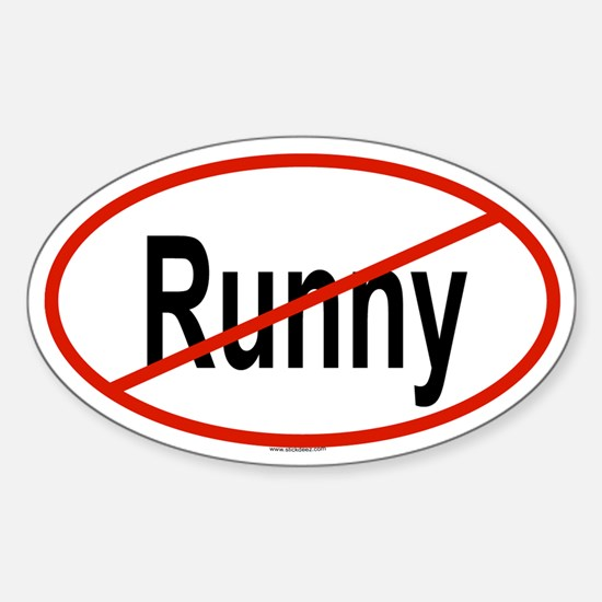RUNNY Oval Decal