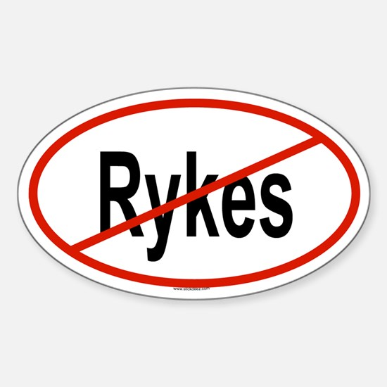 RYKES Oval Decal