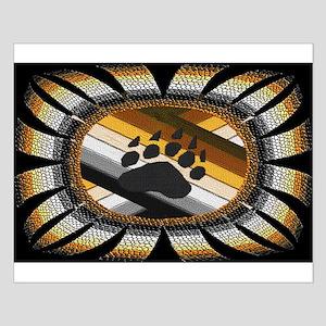 BEAR PAW PRIDE DESIGN/BLACK Small Poster