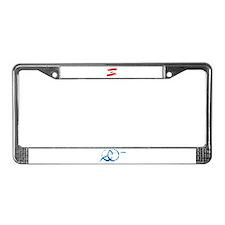 Lebanese Flag Brush License Plate Frame