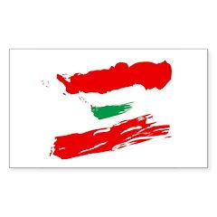 Lebanese Flag Brush Rectangle Decal