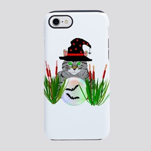 Wizard Cat With Crystal Ball iPhone 8/7 Tough Case