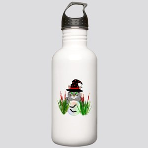 Wizard Cat With Crysta Stainless Water Bottle 1.0L