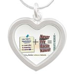 Absolute Resolve Silver Heart Necklace