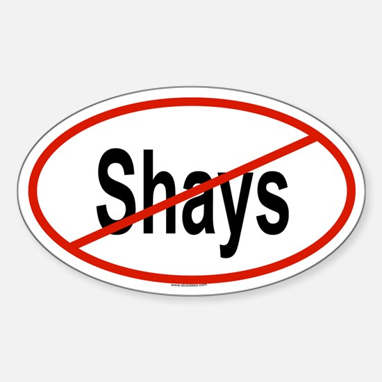 SHAYS Oval Decal