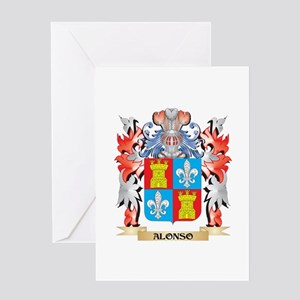 Alonso Coat of Arms - Family Crest Greeting Cards
