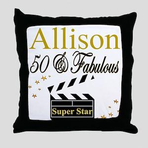 MS DIVA 50TH Throw Pillow