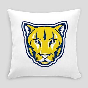 Cougar Mountain Lion Head Retro Everyday Pillow