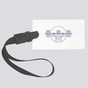 Strongman Lifting Weight Mono Line Luggage Tag