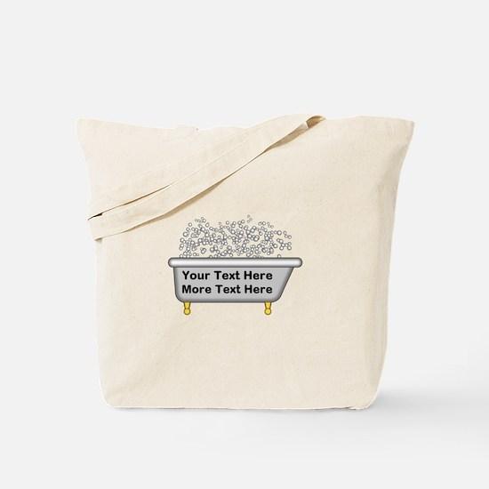 Personalized Bubble Bath Tote Bag