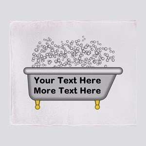 Personalized Bubble Bath Throw Blanket