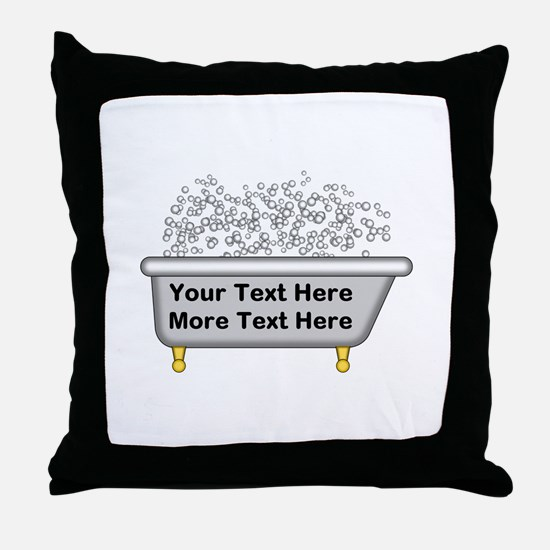 Personalized Bubble Bath Throw Pillow