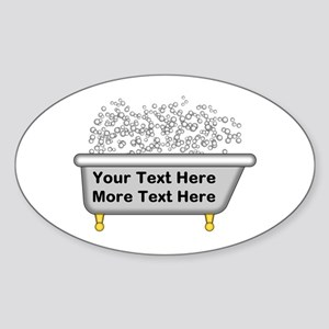 Personalized Bubble Bath Sticker (Oval)