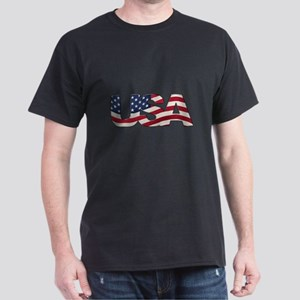 Cool USA signage with real flag T-Shirt