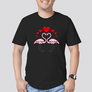 Personalized Flamingos Men's Fitted T-Shirt (dark)