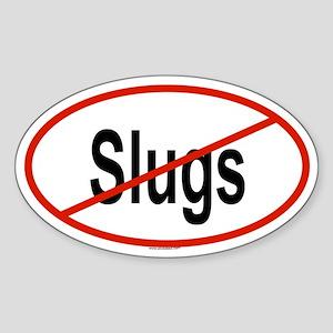 SLUGS Oval Sticker