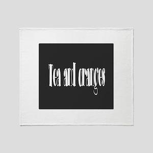 Tea and oranges Throw Blanket