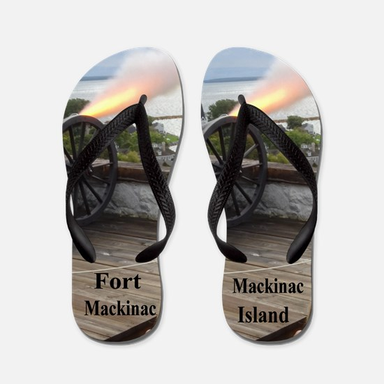 Fort Mackinac Flip Flops