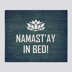 NAMASTAY IN BED! Throw Blanket