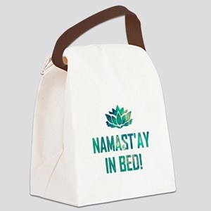 NAMASTAY IN BED! Canvas Lunch Bag